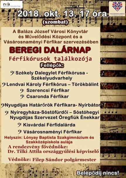 Beregi Dalárnap plakátja